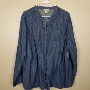 Lucky Brand Tencel Tuxedo Shirt size 3XL